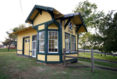 Hulah, OK ATSF depot is now located in a park in Bartlesville, OK.