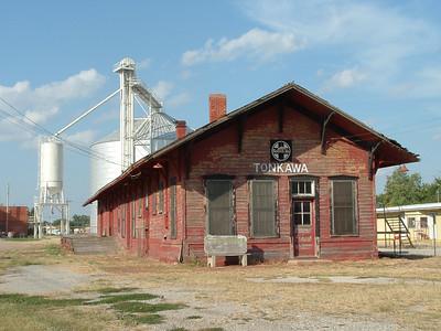 Tonkawa, OK ATSF depot.