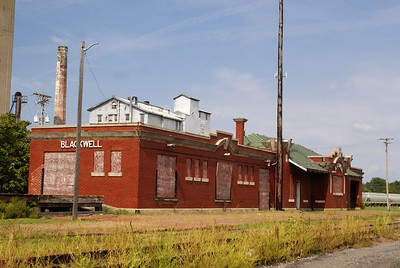Santa Fe depot located in Blackwell, OK.
