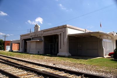 San Francisco-Saint Louis (Frisco) depot in Ada, OK.  Note the large F above the bay window.  Now used as a Chamber of Commerce.