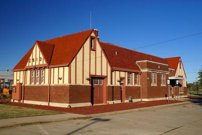 An unique Santa Fe depot in Enid, OK