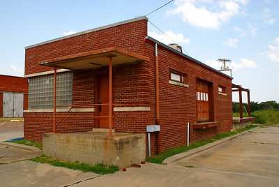 Former Rock Island freight house in Seminole, OK.