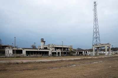 Shell of the union station in Joplin, MO.