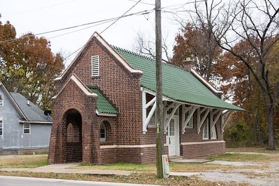 Oronogo, MO Southwest Missouri Electric Railroad Interurban depot.