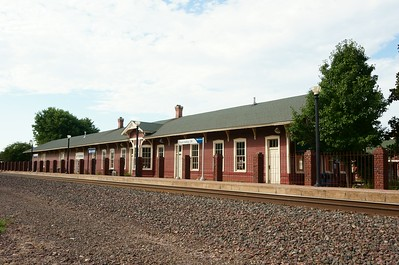Santa Fe depot in Pauls Valley, OK now used as a museum.