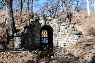 Remains of a C&NW stone culvert in York, NE.