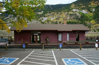 Colorado Central railroad depot in Silver Plume, CO.
