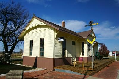 Inman, KS Rock Island depot.