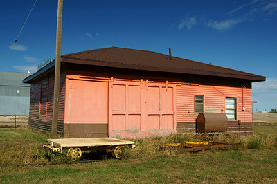 Remaining portion of the Milwaukee depot in Murdo, SD