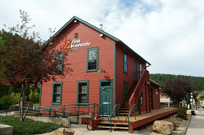 Replica CB&Q Depot in Deadwood, SD