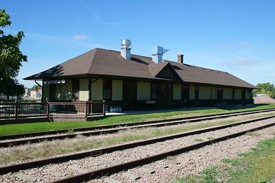Chicago & Northwestern depot in Beresford, SD.