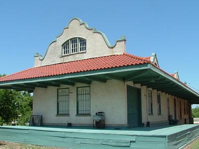 Fort Worth & Rio Grande (SLSF) depot in Menard, TX.