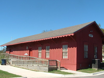 Houston & Texas Central freight depot in Elgin, TX.