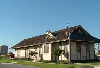 This the Houston & Texas Central depot from Kosse, TX.  It is now located in Saginaw, TX and is being used by the Chamber of Commerce.