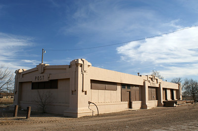 Former Santa Fe depot in Post, TX.