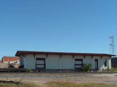 SA&AP freight depot in Giddings, TX.