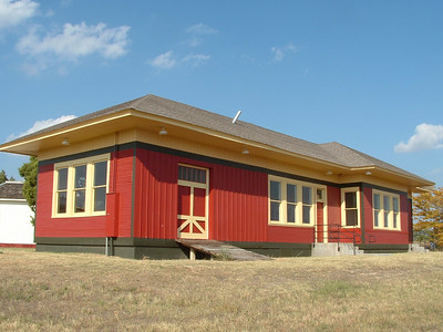 This restored Fort Worth & Denver station in Claredon, TX now serves as a museum and has been relocated from the tracks.