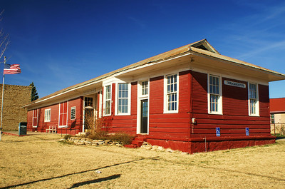 The Cisco & Northeastern Railroad reached Throckmorton, TX in 1928 and built this depot.  It is now used as a library.