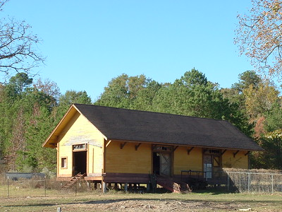 Texas & New Orleans freight depot outside of Nacogdoches, TX.