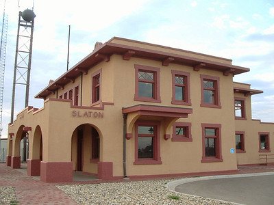 This Harvey House was built 1911 in Slaton, TX.  It served as a restaurant until the 1940's then was used as a passenger depot until 1969.  It is now being restored back to its dining room plan with the upstairs to be a bed & breakfast.