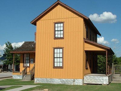 Cotton Belt section foreman house located in Grapevine, TX next to the historic depot.