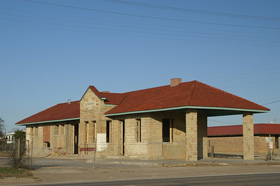 1910 Gulf Texas & Western depot in Jacksboro, TX.  Currently under restoration to be used as a Tourism & Vistors Center.