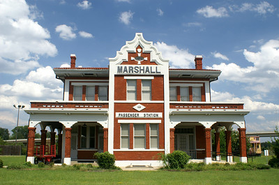The Marshall, Texas depot was a signature station for the Texas & Pacific Railroad.  It was built in 1912 as a passenger station and general office building for the railroads eastern regions.