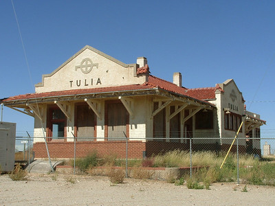 The Tulia, TX depot was being demolished before the city stepped in and stopped the railroad from knocking down the rest of the depot.  The freight portion was lost on the far end but the passenger and baggage portions were saved.  Now it sits boarded up and empty.