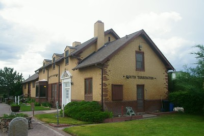 Union Pacific depot in South Torrington, WY.