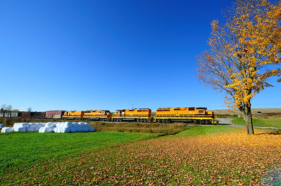 St Lawrence & Atlantic #393 is heading toward Richmond at Compton Quebec.