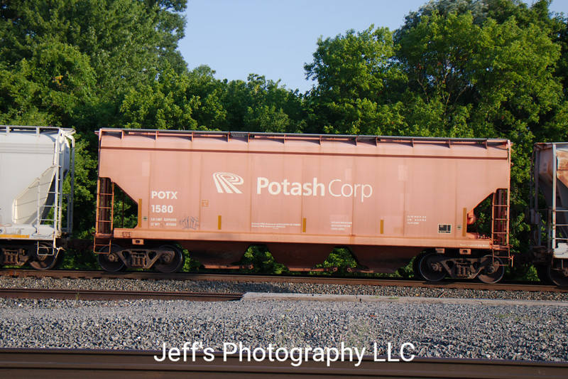 General American Marks Company 3-Bay National Steel Car 4300 cu. ft. Covered Hopper No. 1580