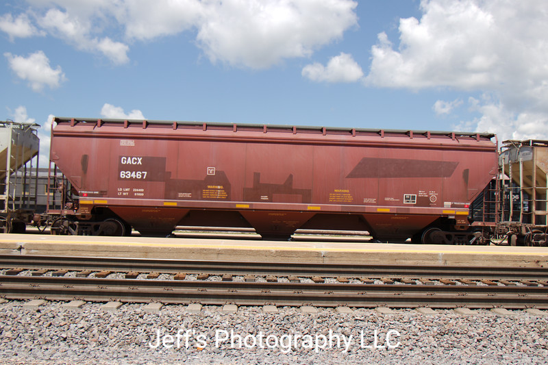 General American Marks Company 3-Bay 5188 cu. ft. Covered Hopper No. 63467