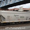 SMBC Rail Services LLC 3-Bay ARI 4275 cu. ft. Centerflow Covered Hopper No. 3487