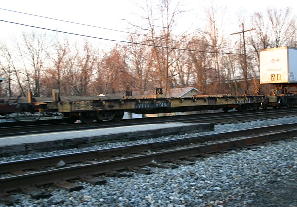 TTX Company 60' Container Only Deck Flat Car No. 97482