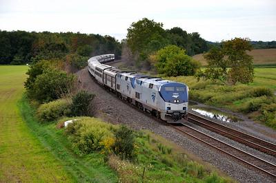 Amtrak Train 48 (The Lake Shore Limited) hustles towards Syracuse