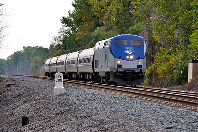 Amtrak Train 64 (The Maple Leaf) at QC309