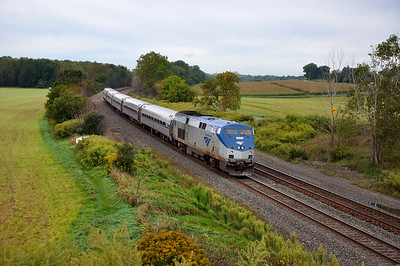 Amtrak Train 286 (Empire Service) eastbound at Centerport