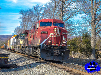 Canadian Pacific Leads a Freight Train East