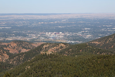 Colorado Springs as seen from the grade between Tunnels 5 & 6