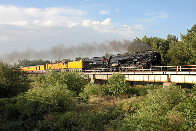 Southbound crossing the South Platte River into La Salle, Colorado