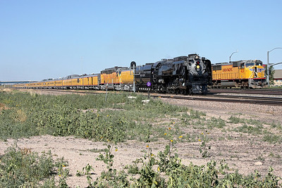 Passing a freight just west of Cheyenne Depot