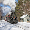 Conway Scenic Railroad (New Hampshire) : Conway Scenic Railroad - North Conway, NH Photos from July 2007 and January 2009, featuring Canadian National 0-6-0 #7470 (Grand Trunk built 1921) with passenger and freight trains between North Conway, Bartlett, Crawford Notch, and Fabyan. The tourist railroad began operations in 1974 over 5.5 miles of the former Boston & Maine Railroad Conway Branch (built 1872) between North Conway and Conway. The railroad was extended over 27 miles of the former Maine Central's Mountain Division (built 1875) through Crawford Notch to Fabyan in 1995. For excursion information, visit the Conway Scenic Railroad Website.