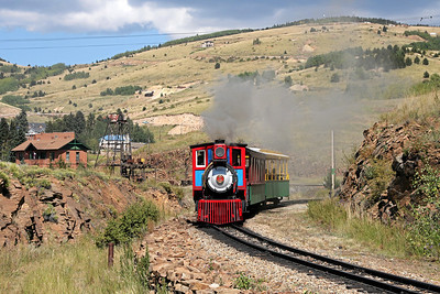 #2 near Cripple Creek Wye, with the 1895 Midland Terminal Depot at left