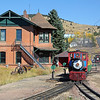 #2 at Cripple Creek, with the 1895 Midland Terminal Depot at left