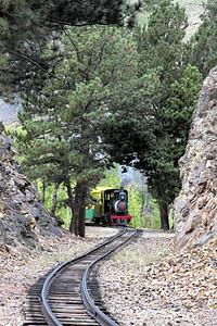 #1 approaches the rock cut near Anaconda