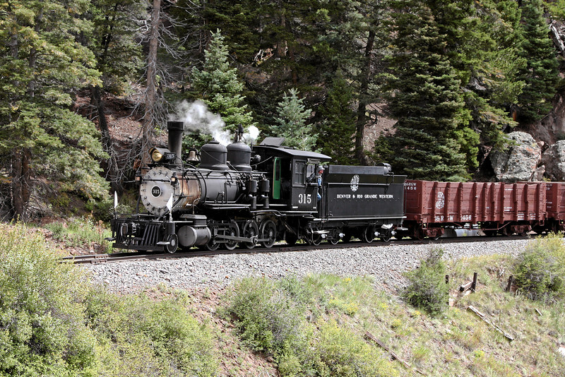 D&RGW 315 at Phantom Curve