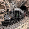 D&RGW 315 at Rock Tunnel in Toltec Gorge