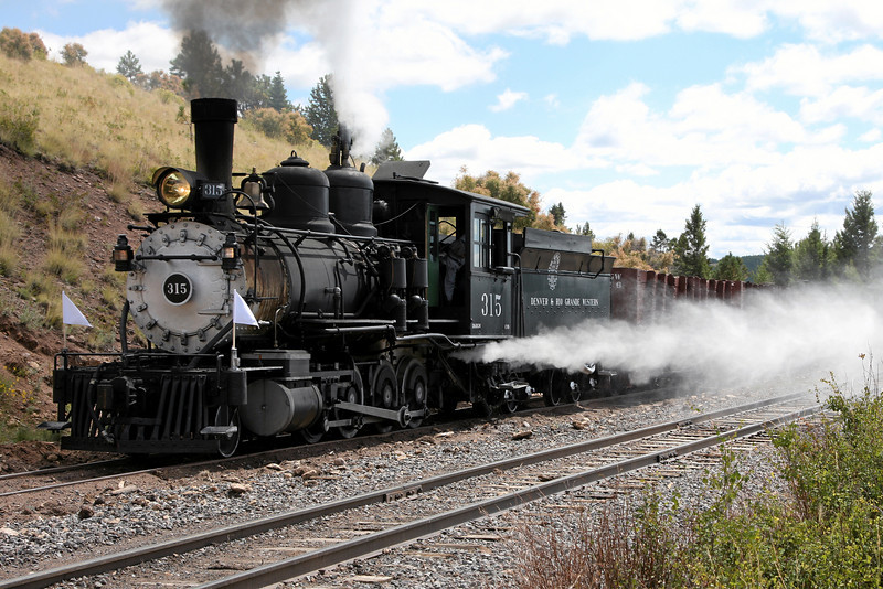 D&RGW 315 at Toltec Siding