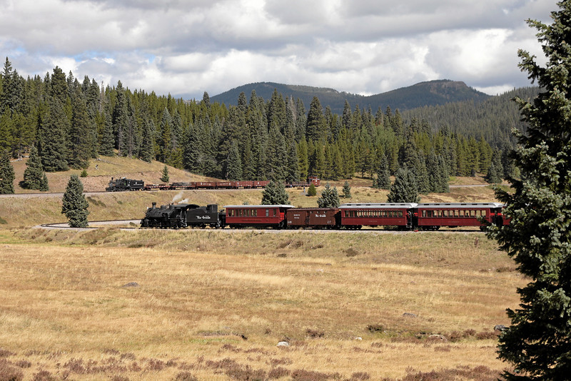 D&RGW 315 and C&TS 488 at Tanglefoot Curve