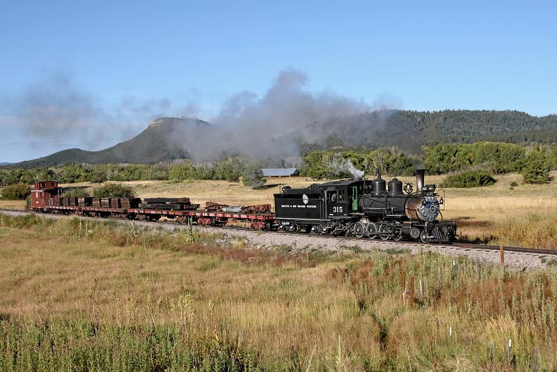 D&RGW 315 at Broad Spur